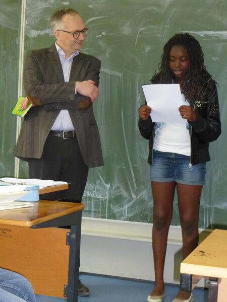 L'écrivain de littérature de jeunesse Bernard Friot au LFA