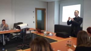 Première ES en visite dans les locaux de la Bundesbank de Sarrebruck