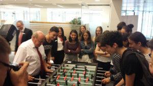 Schülerinnen und -Schüler der Seconde ES besuchen die Sparkasse Saarbrücken am 19 Juni 2018