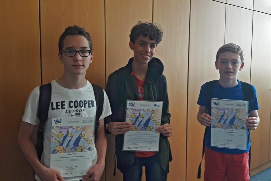 """DFG-Schüler gewinnen """"Europäischen Wettbewerb"""""""