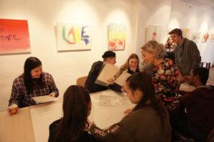Ein Kunstvermittlungsangebot von Schülerinnen und Schülern des DFG für saarländische Jugendliche zum ArtWalk Saarbrücken