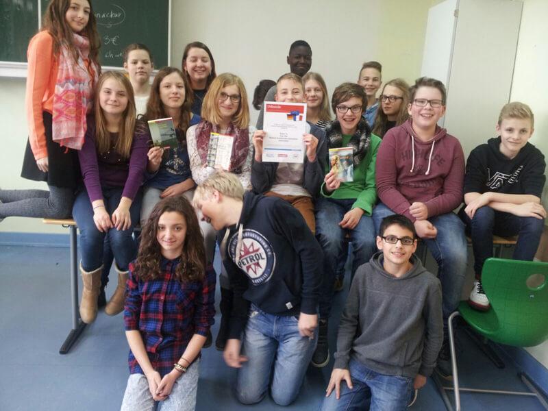 3. Platz beim Internet-Teamwettbewerb für Klasse 7a