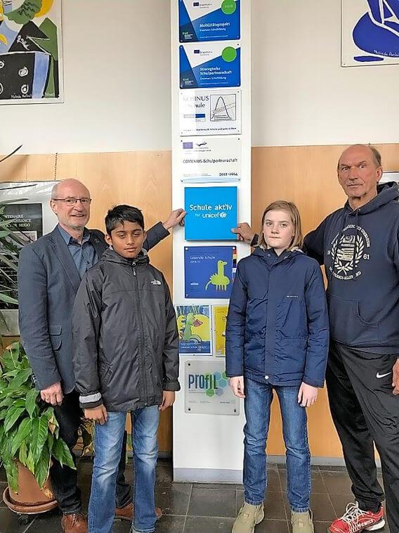 Le LFA reçoit une distinction honorifique de l'UNICEF d'Allemagne