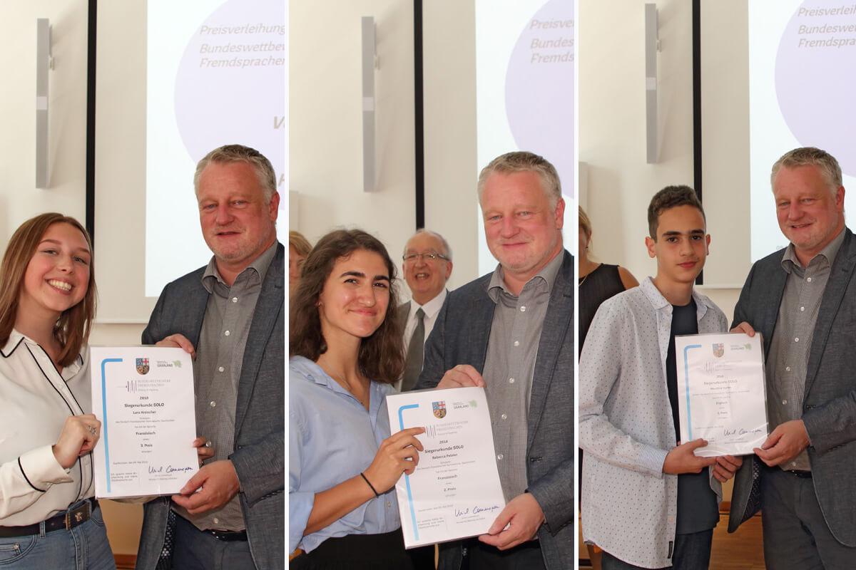 DFG-Gewinner beim Bundeswettbewerb Fremdsprachen 2018