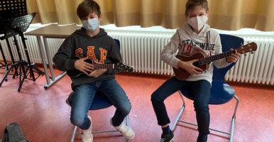 Musikunterricht am DFG unter Coronabedingungen