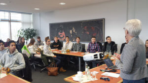 Les élèves de Première ES en visite dans les locaux de la Bundesbank de Sarrebruck