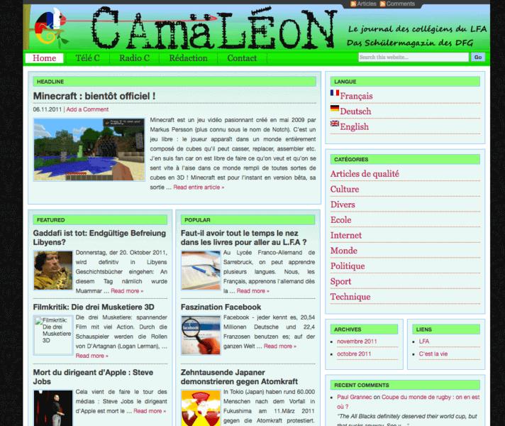 Camäléon 2011
