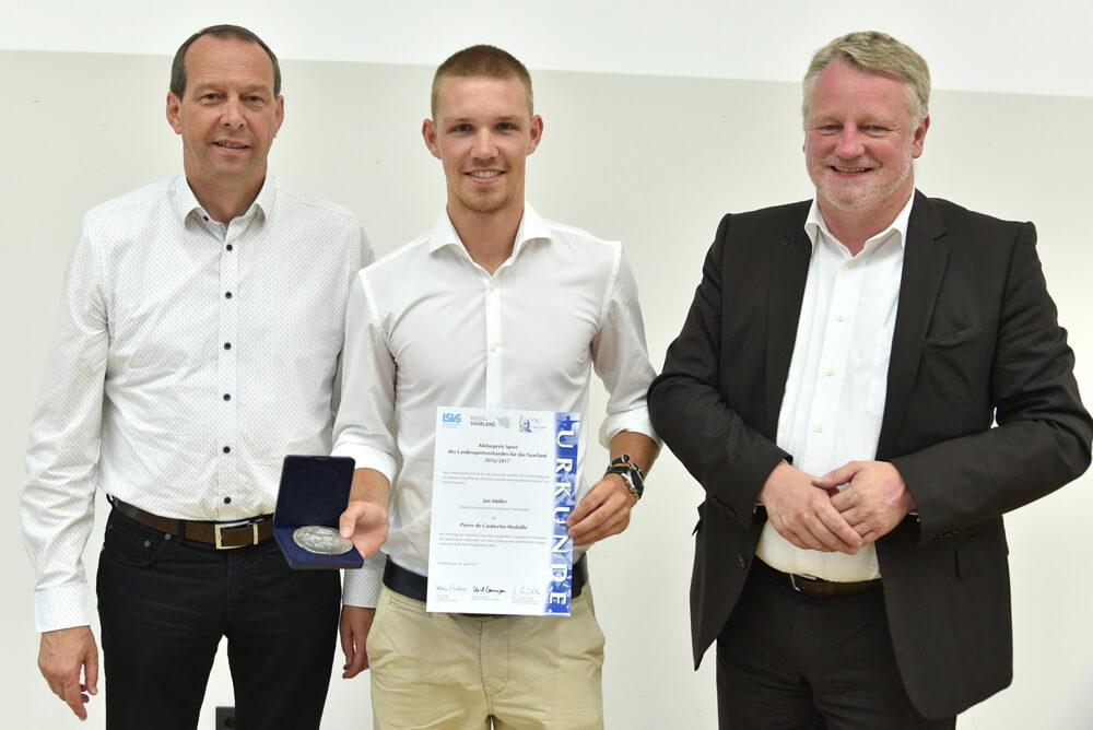 Saarländischer Pierre de Coubertin-Preis für DFG-Schüler Jan Müller