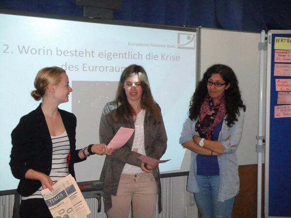 Seminar zur Eurokrise der Klasse 1ES