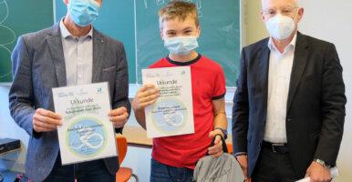 """Grégoire Leclère Gewinner beim Ideenwettbewerb """"Mein Rad und ich – einfach unzertrennlich"""""""