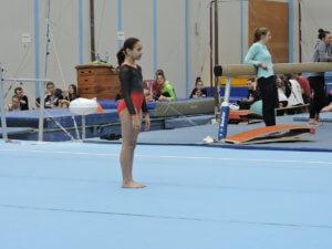 DFG-Mädchen bei den saarländischen Schulmeisterschaften im Gerätturnen 2019
