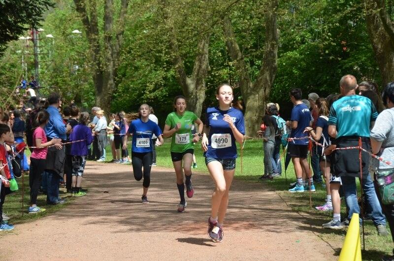 4 Top Ten-Platzierungen der DFG-Teilnehmer bei den Saarländischen Schullaufmeisterschaften 2017