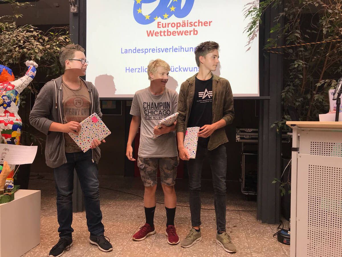 DFG-Schüler bei Preisverleihung des Europäischen Wettbewerbs