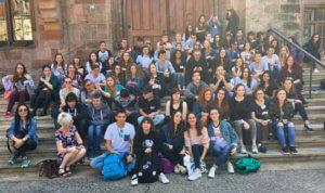 Erasmus-Gruppe am Rathaus