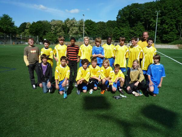 L'équipe de foot du LFA n'a pu transformer l'essai en finale régionale de la compétition «Jugend trainiert für Olympia»