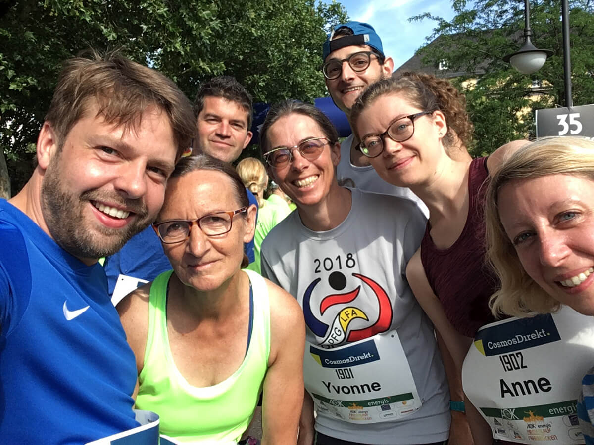 DFG-Team beim Saarbrücker Firmenlauf