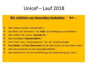 UNICEF-Feier 2018