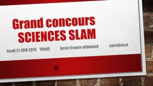 Grand concours SCIENCES SLAM