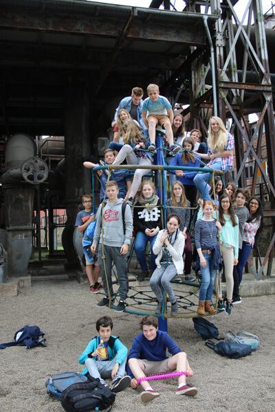 Besuch der 8S1 im Weltkulturerbe Völklinger Hütte