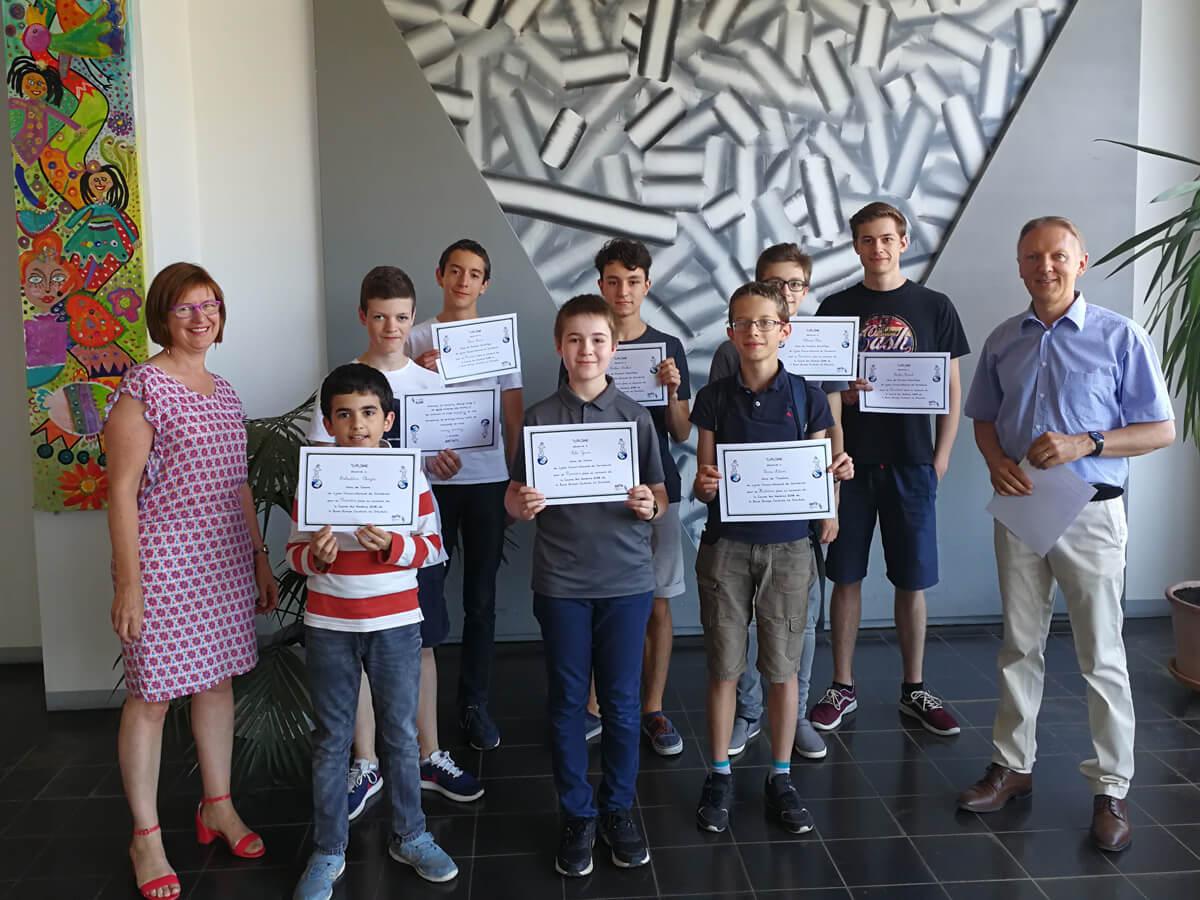"""Hervorragende Leistungen beim Mathematikwettbewerb """"Course aux nombres"""""""