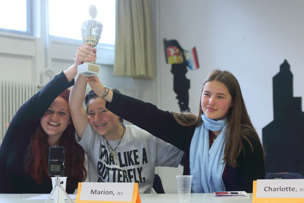 Finals of the English debating contest: And the winners are…
