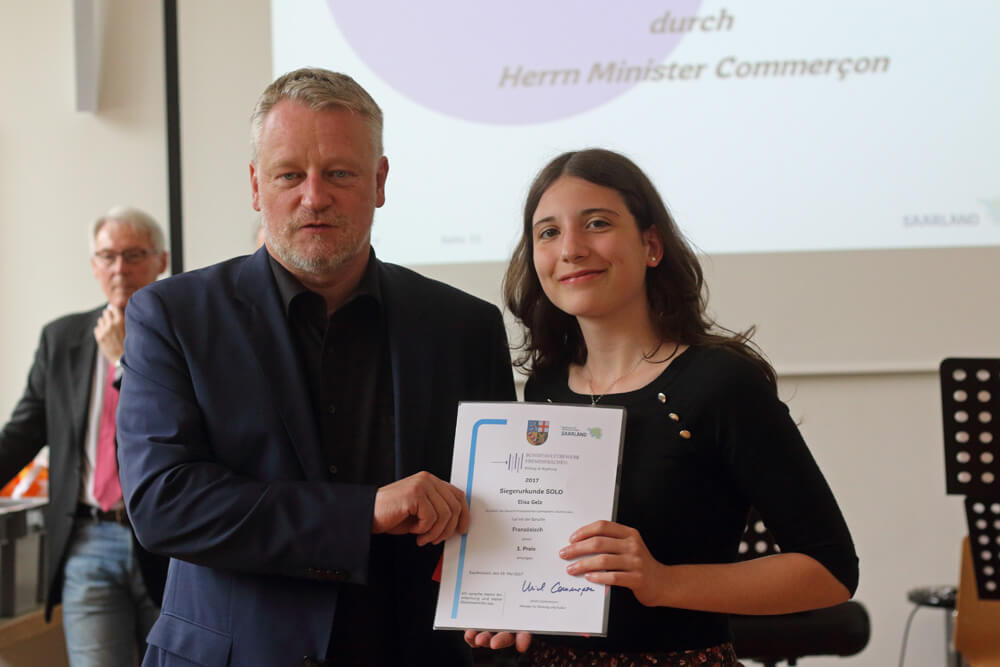 DFG-Gewinner beim Bundeswettbewerb Fremdsprachen 2017