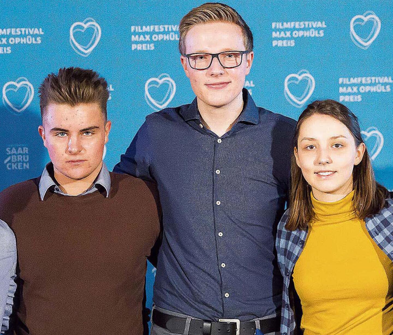 DFG-Schüler Joël Crisetig und Till Weyland bei Max Ophüls-Jury