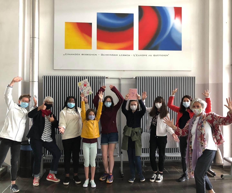 Europäischer Wettbewerb 2020 : deux groupes d'élèves franco-allemands de 5e1-7a et 7b du LFA lauréats du prix du land de Sarre