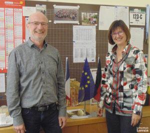 Hans Bächle et Clarit Alofs, duo de proviseurs du lycée franco-allemand (Photo: RL)