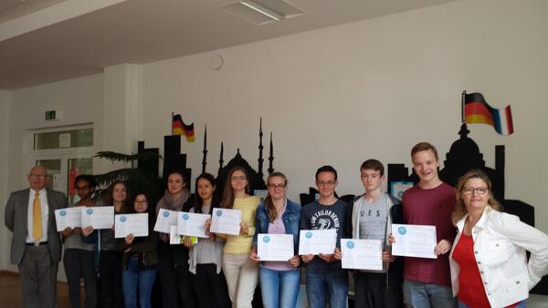 """Klasse Seconde ES beim Wettbewerb """"Mot d'or"""" 2016 erfolgreich"""