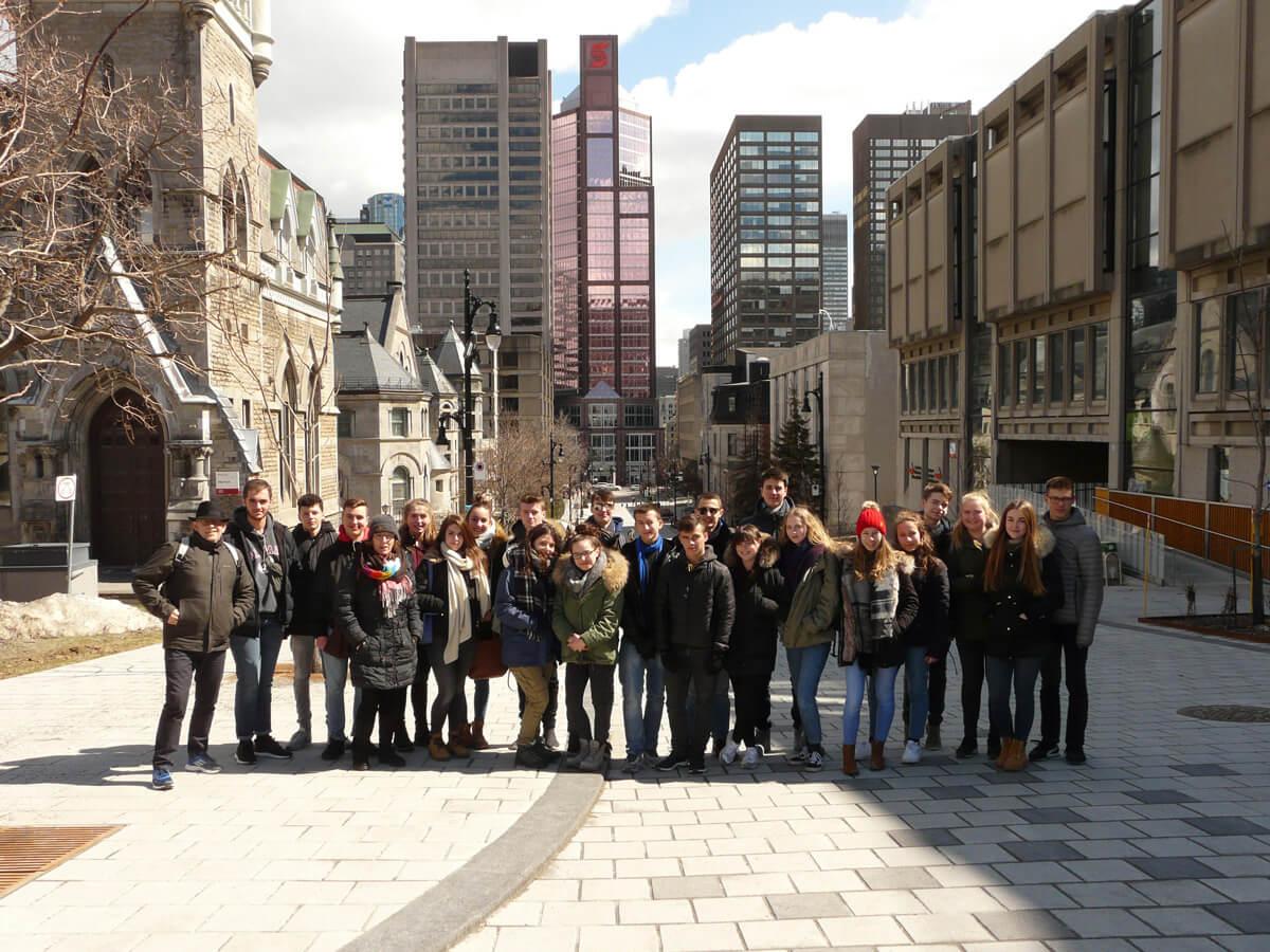 DFG goes Canada: Austausch mit der Lucille-Teasdale Secondary School