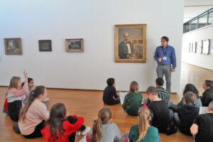 Elèves de la 5ef à la Moderne Galerie