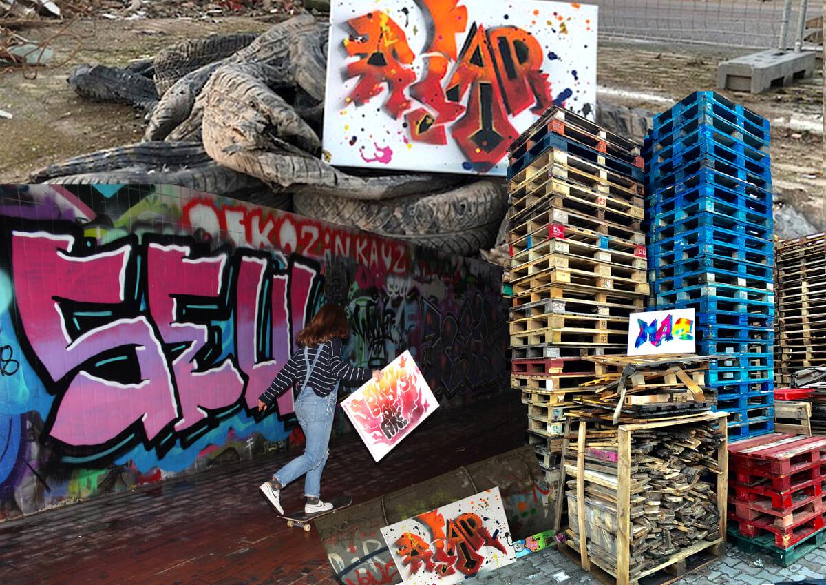 Contribution des Secondes du LFA au concours d'œuvres graphiques sur la thématique du street art ou art urbain