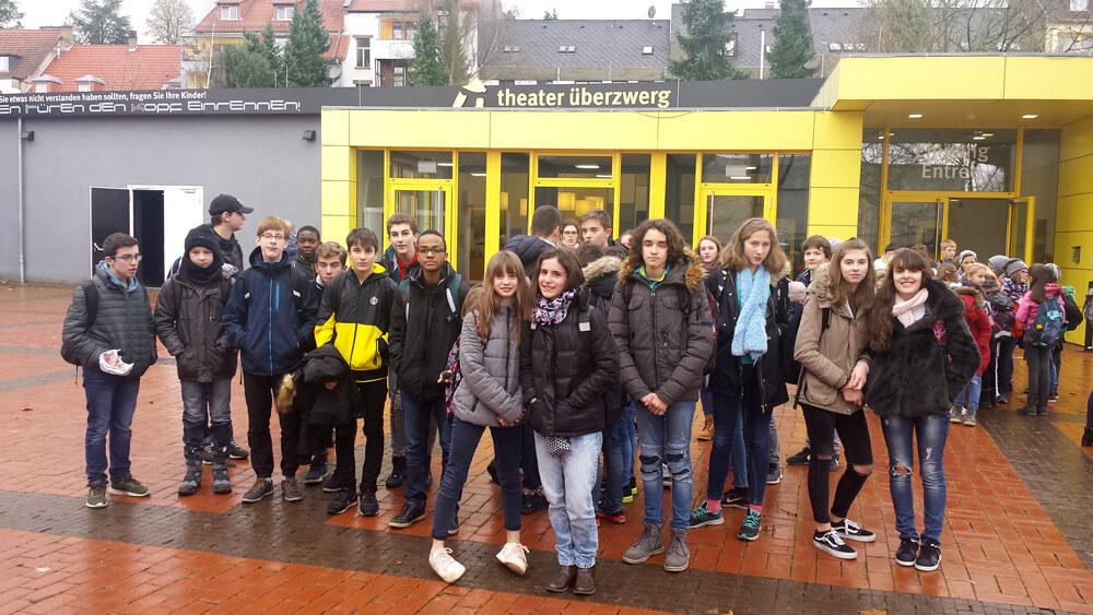 Oskar, Rico und die Tieferschatten : les élèves de 8S1-SL au Theater Überzwerg de Sarrebruck