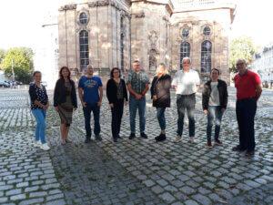 Das Alfa-Team, von links nach rechts: Nicole Dupré, Patricia Koenig, Peter Thiel, Grit Gäßler, Alexander König, Kirstin Krieger, Jean-Claude Philippe, Aude Poilroux, Daniel Meyer