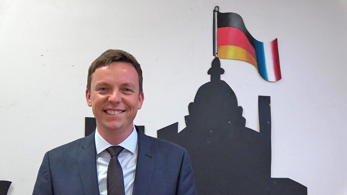 Ministerpräsident Tobias Hans zu Besuch am DFG