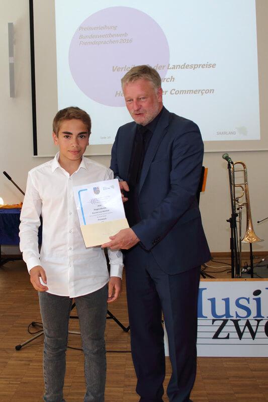Preisverleihung des Bundeswettbewerbs Fremdsprachen 2016