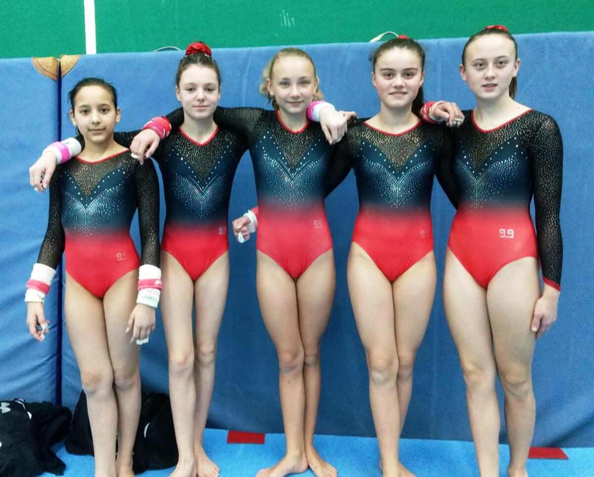 """Platz 2 – """"Wir waren sooooo nah dran""""! Toller Erfolg der DFG-Mädchen bei den saarländischen Schulmeisterschaften im Gerätturnen 2019"""