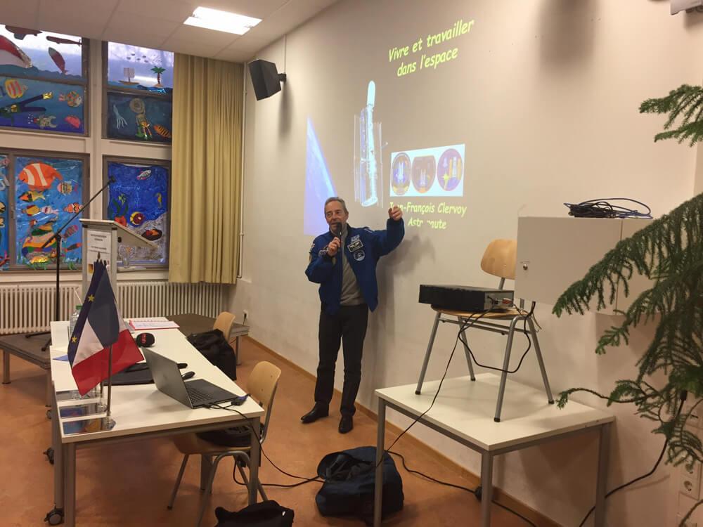 ESA-Astronaut Jean-François Clervoy zu Besuch am DFG