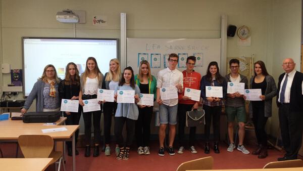 """Klasse 2ES erfolgreich beim Wettbewerb """"Mot d'or 2015"""""""